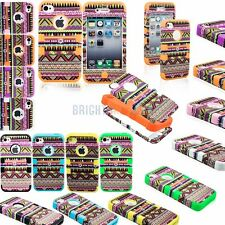 New Color Bohemia Tribal Hybrid Hard/Soft Combo Case Cover for Apple iPhone 4 4S