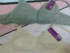 2 Wire free,cotton soft padded,full coverage BRAS-36AA/38AA/40AA/42AA/44AA Cup