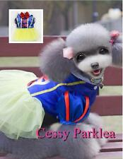 Cute Pet Dog  Puppy Cat Snow White Disney Cartoon Character Costume XS-XL