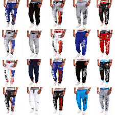 NWT Mens Training Jogger Sweat Pants Gym Sports Slacks Tracksuit Casual Trousers
