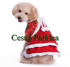 Cute Pet Dog  Puppy Cat Santa Claus Christmas Helper Costume XS-XL