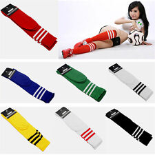 Women High Striped Over Knee Long Socks Stockings Stripe Tube Soccer Football