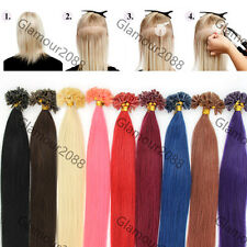 """New 18""""0.5g/s 100S Pre Bonded Keratin Glue Nail/U Tip Remy Human Hair Extensions"""