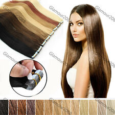 """16""""18""""20""""22""""24"""" PU Seamless Skin Tape in Remy Human Hair Extensions Straight"""