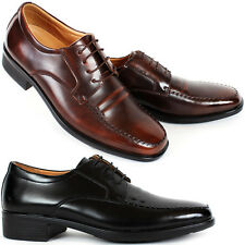 New Mooda Premium Mens Leather Dress Formal Lace Up Shoes Black Brown Nova