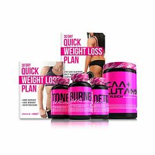 SHREDZ 30 Day Quick Weight Loss Plan + Supplements for Women (Lose Weight+Tone)