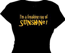 freaking ray sunshine funny t-shirt women ladies funny quote tee retirement gift