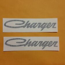 DODGE CHARGER script retro type set of 2 vinyl decal sticker