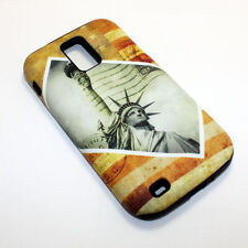 For Samsung Galaxy S2 T989 Hybrid 2-in-1 Phone Cover Case The Statue Of Liberty
