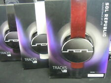New in Box Sol Republic Tracks V8 Stereo Foldable On-Ear Headphones+Mic+Remote