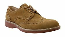 GH Bass Men's Pembroke Taupe Casual Lace Up Suede Wingtip Oxford Shoes