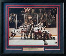 1980 USA Olympics Hockey Team Miracle on Ice Framed & Matted Photo