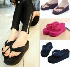 Summer Girls Wedge Platform Thong Flip Flops Sandals Shoes Beach Casual Slippers