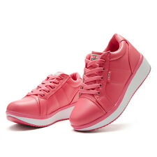 2015 Stylish Girls Womens Platform PU Leather Sneakers Casual Athletic Shoes NWT