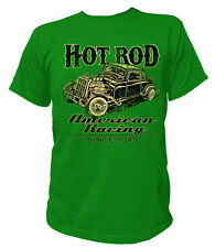 T-Shirt Classic HOT ROD AMERICAN RACING Rockabilly Kustom Vintage USA US AG313
