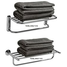 NEW BATHROOM WALL MOUNTED STORAGE SHELF RACK WITH TOWEL HOLDER HANGING RAIL
