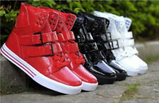 Fashion Mens High Top Velcro Boys Hip hop Sneakers Casual Shoes Trainers Boots 2
