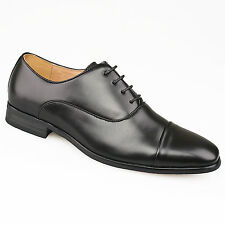 Mens Gents New Black Formal Suit Smart Wedding Toe Capped Oxford Shoes 6 - 12