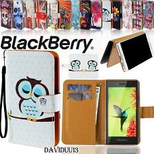 Folio Flip Wallet Card Stand PU Leather Case Cover For Various BlackBerry Phones