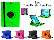 """360° Rotating PU Leather Smart Stand Case Cover For Samsung Galaxy Tab 4 8"""" T330"""