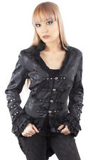 Hearts and Roses H&R Gothic Goth Victorian Arabella Jacket Corset Back Brocade