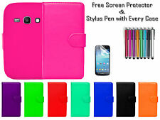 Leather Wallet Flip Case Cover ID Card Holder For Samsung Galaxy Ace 3 S7272 UK