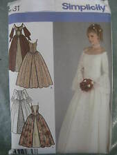 Princess! SIMPLICITY SEWING PATTERN  Victorian History Bridal Dress Costume 4731