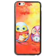 NEW Orange Two Owls Hard Case for Apple iPhone Owl 4s 4 5s 5 6 6s plus Cover