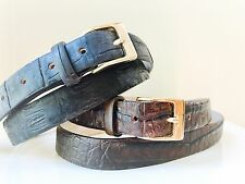 "Real Crocodile alligator Brown black 1"" leather Belt. Size 34 36 38 40 S-XL NEW"