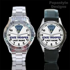 Massachusetts State Police Personalized Analog Watches