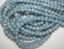 Natural Genuine Blue Angelite Round Loose Beads 6-10mm discount for Wholesale