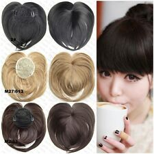 Girls Straight Synthetic Hair Fringe Bang Hairpiece Clip-In Front Hair Extension