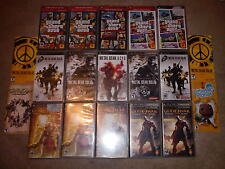 PSP CASE & MANUAL LOT METAL GEAR SOLID Acid- GTA city Stories- God of War *READ*