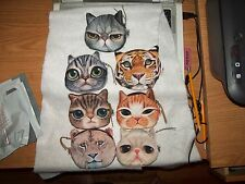 8 Different Cat Face Coin Purses~Lined and Fuzzy~Adorable!!!
