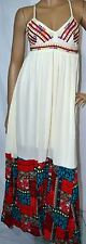 LAZY DAYS PATCHWORK EMBROIDERED MAXI DRESS-ENTRO-IVORY S-M-L