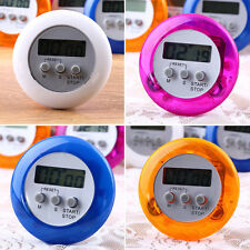 New Cute Mini Round LCD Digital Cooking Home Kitchen Countdown UP Timer Alarm FT