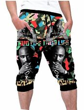 NewHiphop3D Tupac MultiColor CamouflagePrinted Capri Jogger Pants Techno Fabric