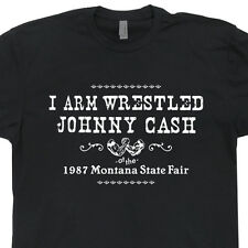 Arm wrestling Johnny Cash T SHIRTS Montana the highwaymen vintage finger retro T