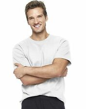 6 Hanes Beefy-T  Short-Sleeve White T-Shirt Mens Size S-6XL Wholesale Pricing