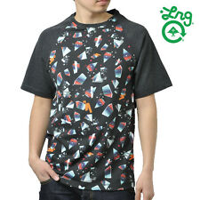 NEW LRG Lifted Research Group gray black OVERSPRAY short sleeve t shirt Large L