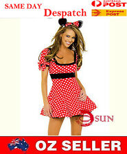 Women Girl Sexy Lingerie Mickey Mouse Red dot Costume Fancy Dress Up Halloween
