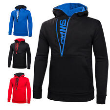 Stylish Men's Slim Warm Hooded Sweatshirt Zipper Coat Jacket Outwear Sweater New