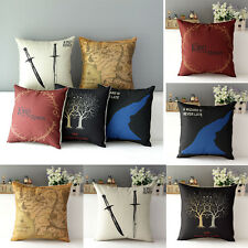 Lord of the Ring Style Linen Throw Sofa Bed Decor Pillow Case Back Cushion Cover