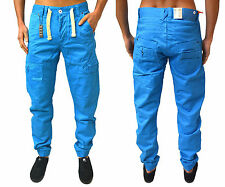 MENS  ETO CUFFED CHINOS COMBAT TAPERED FIT BOW LEG JEANS