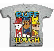 PAW PATROL RUFF AND TOUGH CHASE MARSHALL RUBBLE T SHIRT 2T 3T 4T 5T NICK JR