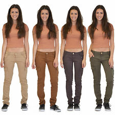 New Womens Ladies Slim Fitted Stretch Combat Jeans Pants Skinny Cargo Trousers
