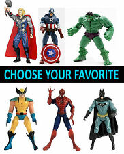 12.7 cm AVENGERS ACTION FIGURES SPIDERMAN WOLVRINE BATMAN HULK CAPITAN AMERICA