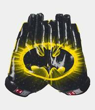 Under Armour UA Alter Ego Batman F4 Youth Football Receivers Gloves - Youth M, L