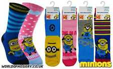 3 Pairs of Children's Despicable Me Minions Licenced Character Socks