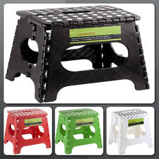 Folding Step Stool Foldable Plastic Collapsible Chair Seat Strong Kitchen Short